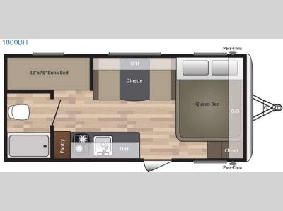 Floorplan - 2016 Keystone RV Summerland 1800BH