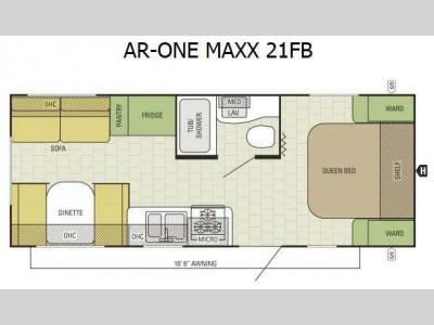 Floorplan - 2017 Starcraft AR-ONE MAXX 21FB