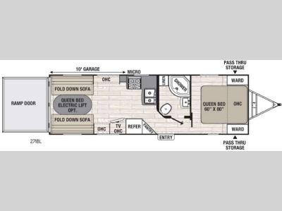 Floorplan - 2017 Coachmen RV Freedom Express Blast 271BL