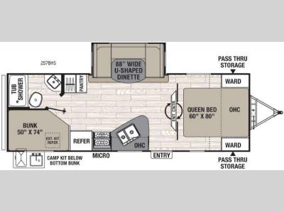 Floorplan - 2017 Coachmen RV Freedom Express 257BHS