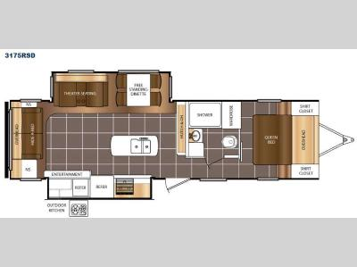 Floorplan - 2017 Prime Time RV Tracer 3175RSD