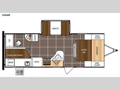 Floorplan - 2017 Prime Time RV Tracer Air 244AIR