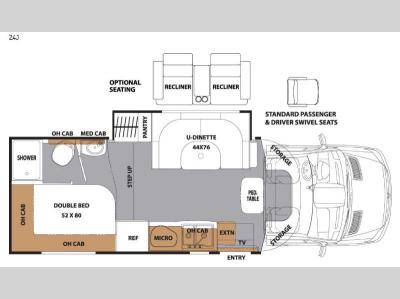 Floorplan - 2017 Coachmen RV Prism 24J