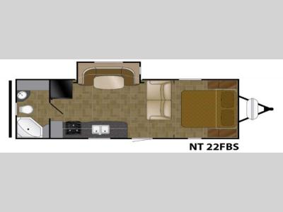 Floorplan - 2017 Heartland North Trail 22FBS
