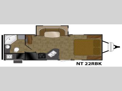 Floorplan - 2017 Heartland North Trail 22RBK