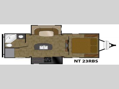 Floorplan - 2017 Heartland North Trail 23RBS