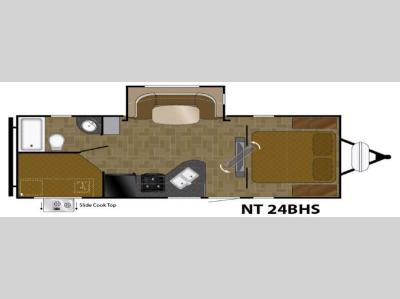 Floorplan - 2017 Heartland North Trail 24BHS