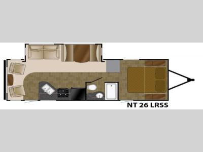 Floorplan - 2017 Heartland North Trail 26LRSS King