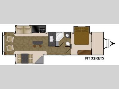 Floorplan - 2017 Heartland North Trail 32RETS King