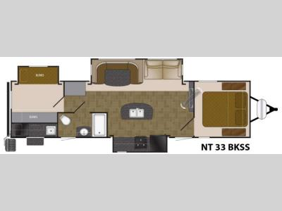 Floorplan - 2017 Heartland North Trail 33BKSS King