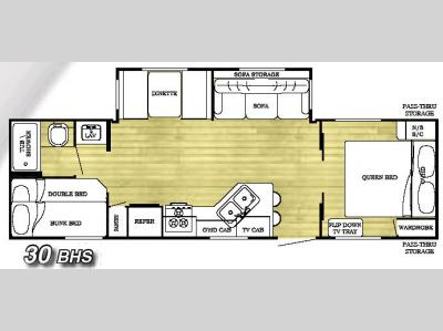 Floorplan - 2006 Gulf Stream RV Conquest 30BHS