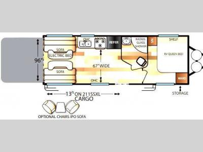 Floorplan - 2016 Forest River RV Wildwood X-Lite 211SSXL