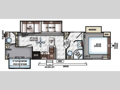 Floorplan - 2017 Forest River RV Rockwood Signature Ultra Lite 8281WS