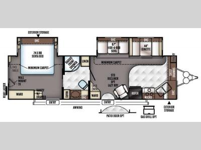 Floorplan - 2017 Forest River RV Rockwood Signature Ultra Lite 8315BSS