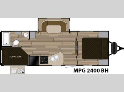 Floorplan - 2017 Cruiser MPG 2400BH