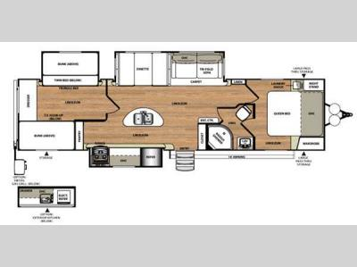 Floorplan - 2017 Forest River RV Wildwood Heritage Glen 300BH