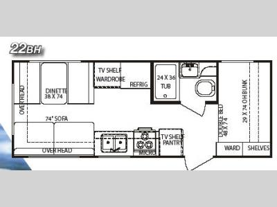Floorplan - 2006 Gulf Stream RV StreamLite 22 BH