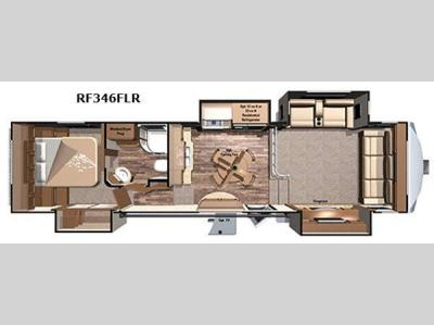 Floorplan - 2017 Highland Ridge RV Open Range Roamer RF346FLR