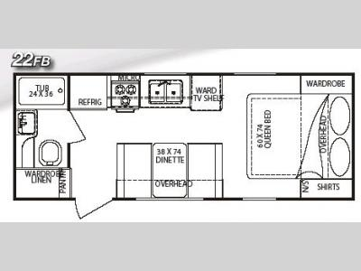 Floorplan - 2006 Gulf Stream RV StreamLite 22 FB