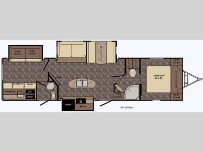 Floorplan - 2017 CrossRoads RV Sunset Trail Super Lite ST320BH