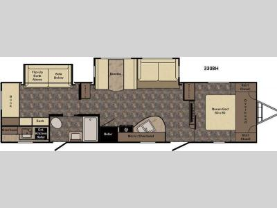 Floorplan - 2017 CrossRoads RV Sunset Trail Super Lite ST330BH