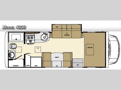 Floorplan - 2007 Gulf Stream RV Vista Mini 4230