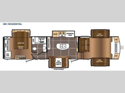 Floorplan - 2017 Prime Time RV Sanibel 3901