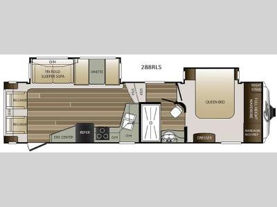 Floorplan - 2017 Keystone RV Cougar 288RLS