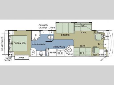 Floorplan - 2007 Holiday Rambler Vacationer 36 WBD