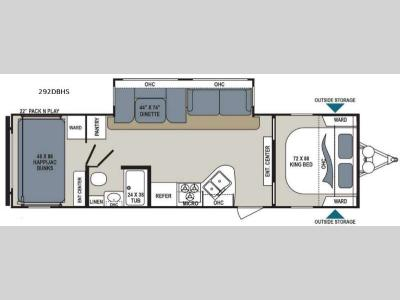 Floorplan - 2017 Dutchmen RV Aerolite 292DBHS