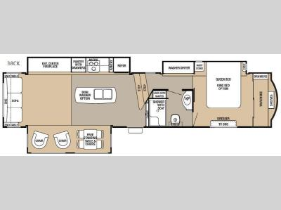 Floorplan - 2016 Forest River RV Cedar Creek Hathaway Edition 38CK
