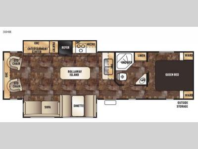 Floorplan - 2017 Forest River RV Cherokee 304R
