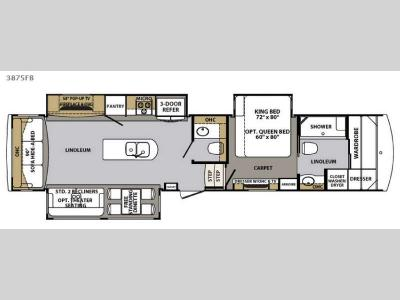 Floorplan - 2017 Forest River RV Cardinal 3875FB