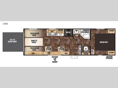 Floorplan - 2017 Forest River RV Cherokee Grey Wolf 26RR