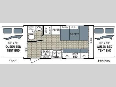Floorplan - 2017 Dutchmen RV Kodiak Express 186E