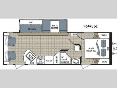 Floorplan - 2017 Dutchmen RV Kodiak Express 264RLSL