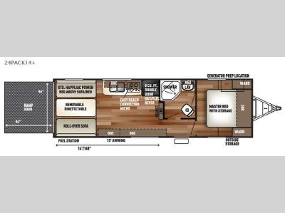 Floorplan - 2016 Forest River RV Cherokee Wolf Pack 24PACK14plus