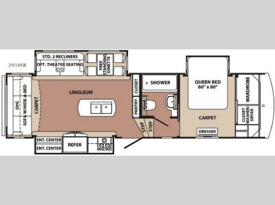 Floorplan - 2017 Forest River RV Blue Ridge 2910SK