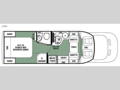 Floorplan - 2017 Forest River RV Forester 2391 Ford
