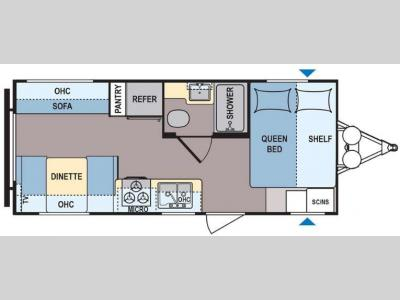Floorplan - 2017 Dutchmen RV Coleman Lantern Series 192RD