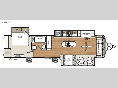 Floorplan - 2017 Forest River RV Sandpiper Destination Trailers 401FLX