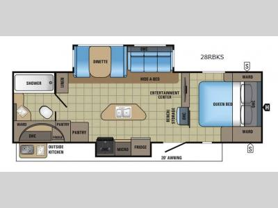 Floorplan - 2017 Jayco White Hawk 28RBKS
