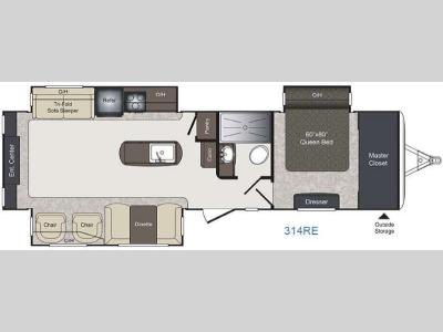 Floorplan - 2017 Keystone RV Laredo 314RE