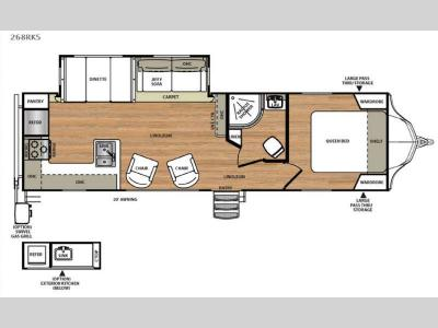 Floorplan - 2016 Forest River RV Vibe 268RKS