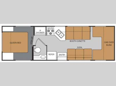 Floorplan - 2017 Thor Motor Coach Four Winds 28A