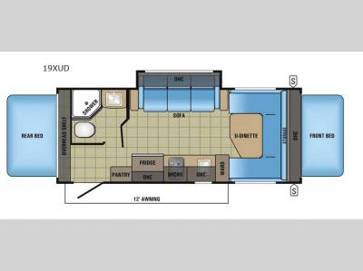 Floorplan - 2017 Jayco Jay Feather 7 19XUD