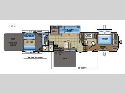 Floorplan - 2017 Jayco Seismic 4212