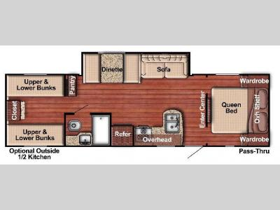 Floorplan - 2017 Gulf Stream RV Kingsport Lite 279BH
