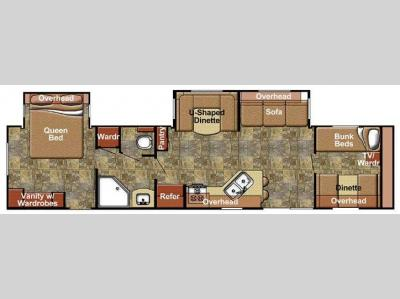 Floorplan - 2017 Gulf Stream RV Kingsport 380 FRS SE Series