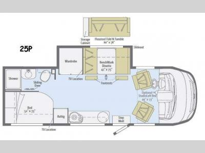 Floorplan - 2017 Winnebago Via 25P